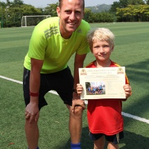 Coach James with Mathias Summer Camp 2014.